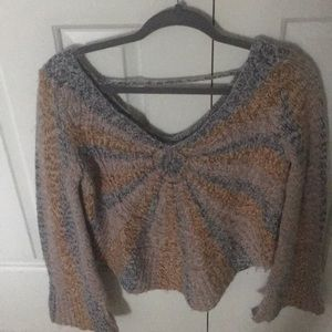 3a75c5f8755b ... Free people sunburst sweater small vneck ...